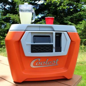 """Kickstarter """"coolest"""" picnic cooler."""